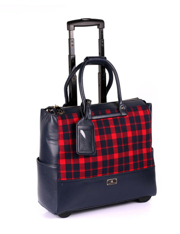 Karla Hanson Women's RFID Professional & Travel Trolley - Plaid | MaxStrata