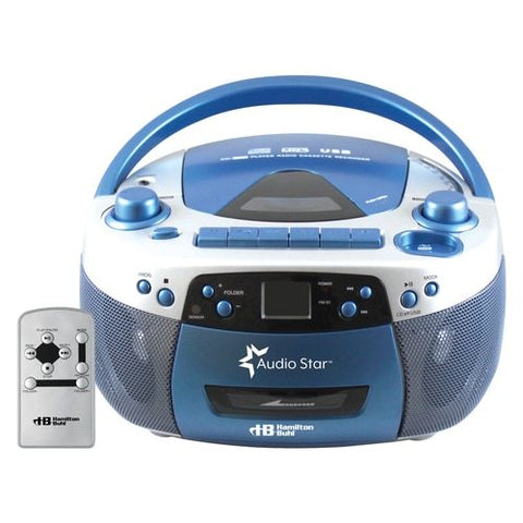 HamiltonBuhl AudioStar Boombox Radio, CD, USB, Cassette Player- Tape & CD Converter | MaxStrata