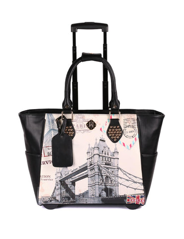 Karla Hanson Women's RFID Bon Voyage Travel Trolley - London Bridge | MaxStrata
