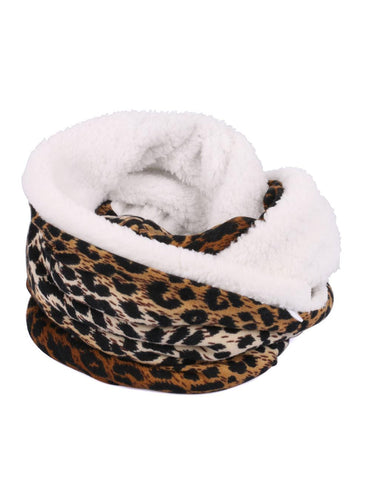 Karla Hanson Women's Animal Print Infinity Scarf with Phone Pocket | MaxStrata