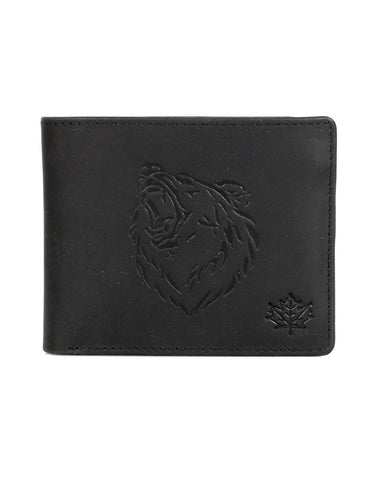 Karla Hanson CANADA WILD Men's Hunter Leather Wallet - Grizzly Bear | MaxStrata