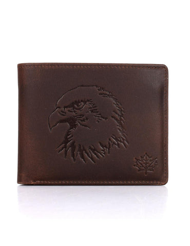 Karla Hanson CANADA WILD Men's Hunter Leather Wallet - Eagle | MaxStrata