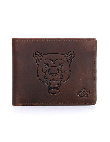Karla Hanson CANADA WILD Men's Hunter Leather Wallet - Mountain Lion | MaxStrata