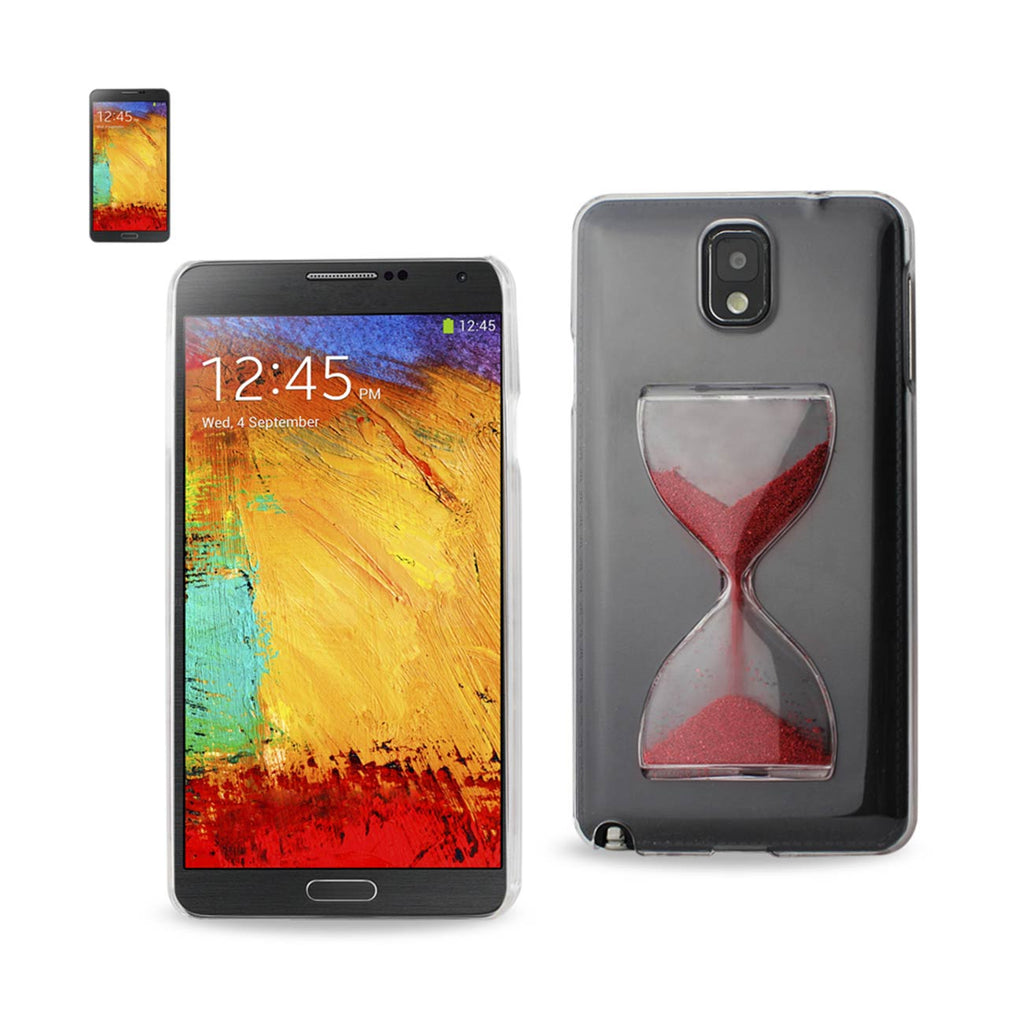 Reiko Samsung Galaxy Note 3 3D Sand Clock Clear Case In Red | MaxStrata