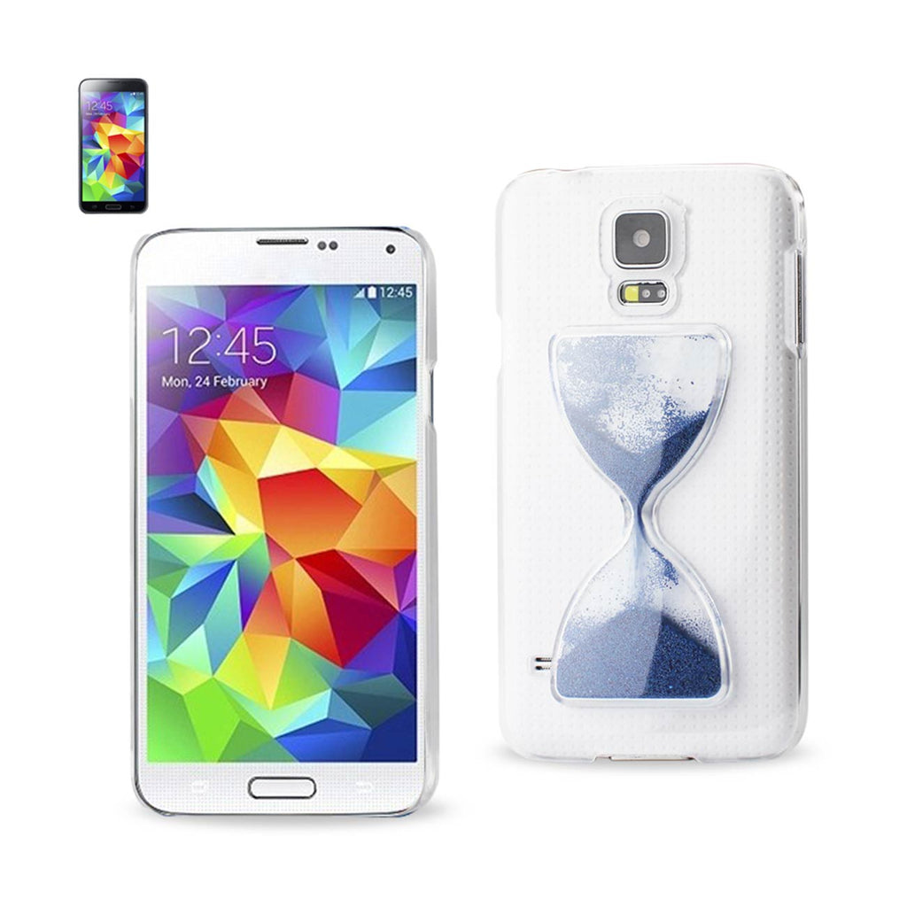Reiko Samsung Galaxy S5 3D Sand Clock Clear Case In Navy | MaxStrata
