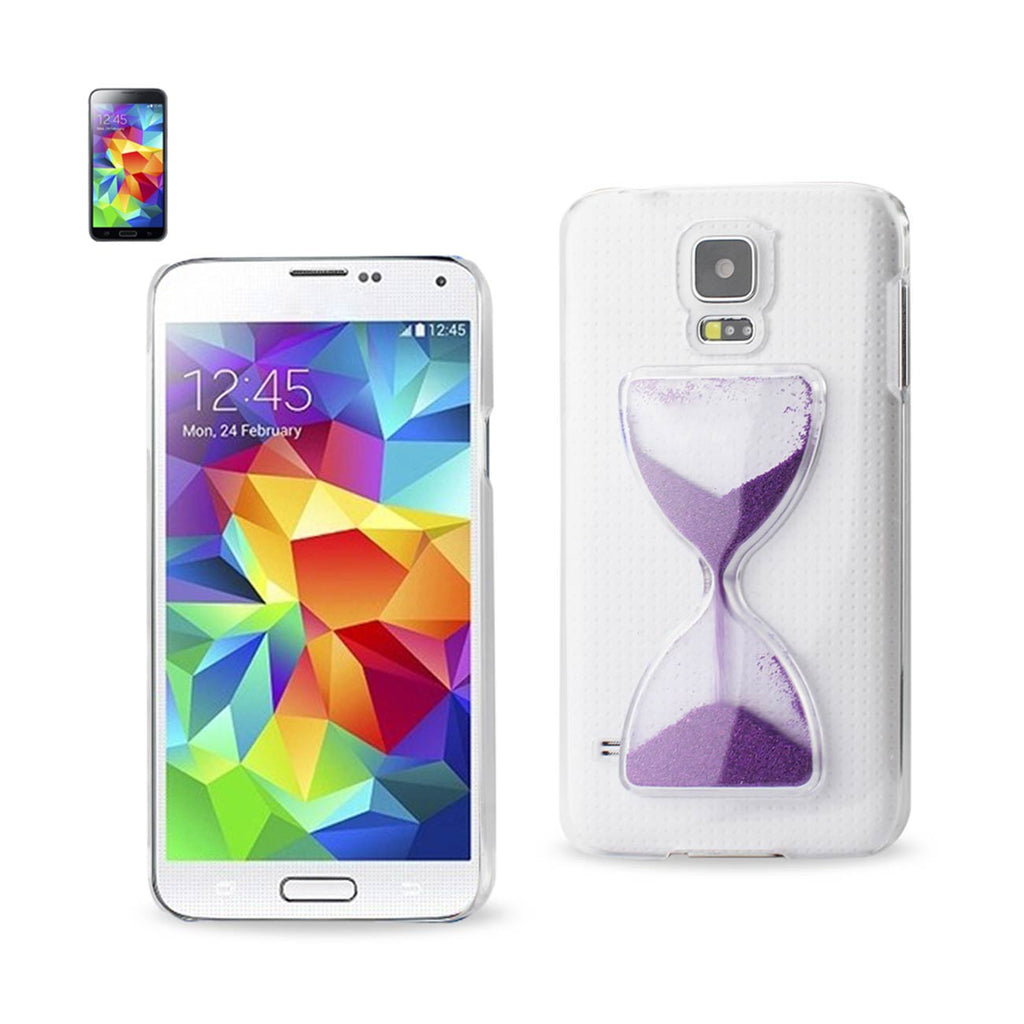 Reiko Samsung Galaxy S5 3D Sand Clock Clear Case In Purple | MaxStrata