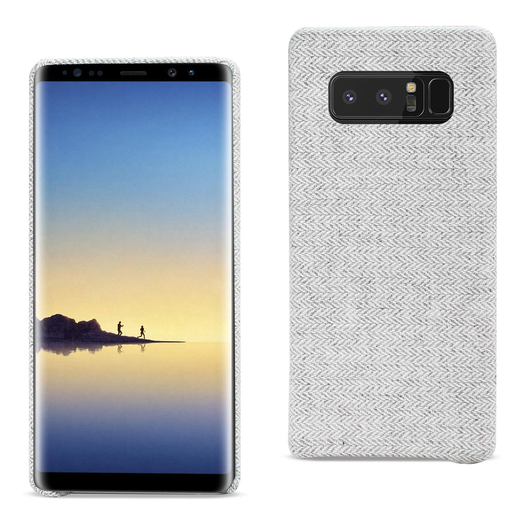 Reiko Samsung Galaxy Note 8 Herringbone Fabric In Light Gray | MaxStrata