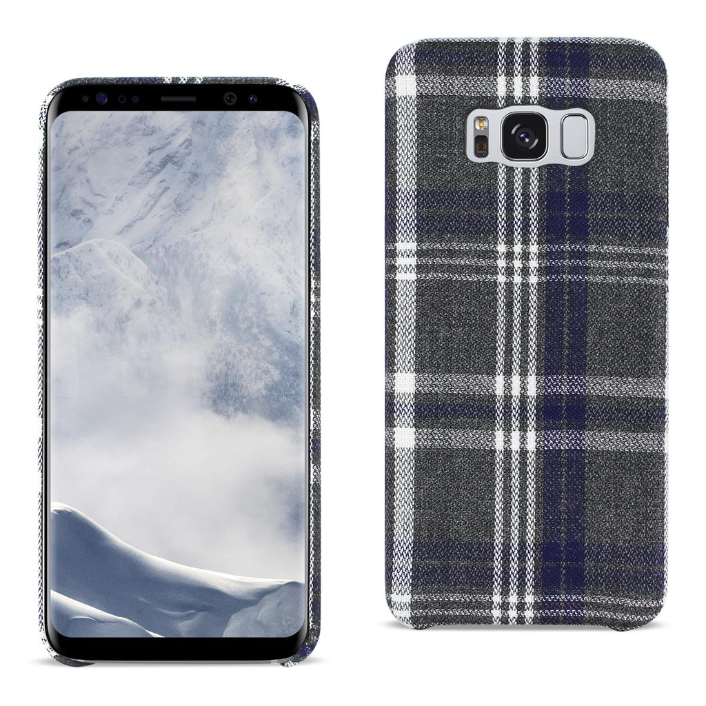 Reiko Samsung Galaxy S8 Edge Checked Fabric Case In Black | MaxStrata