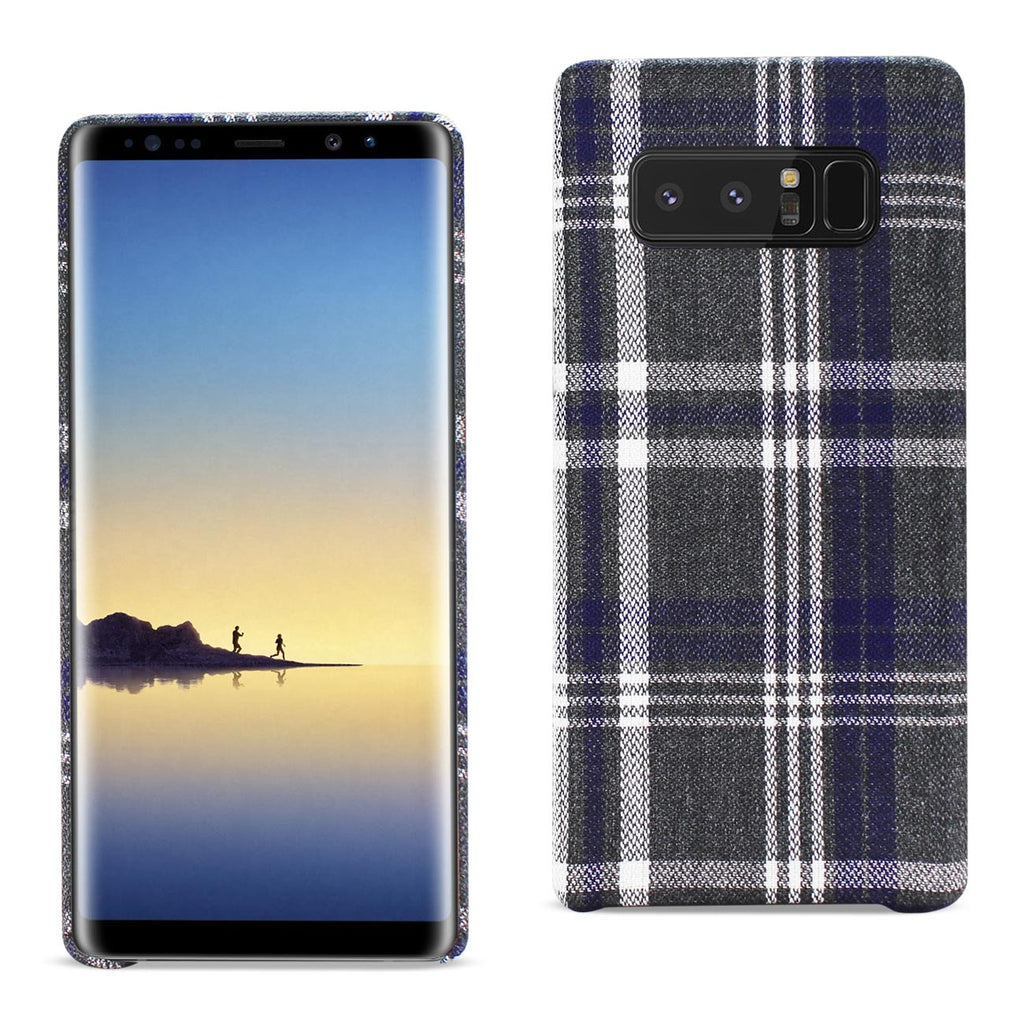 Reiko Samsung Galaxy Note 8 Checked Fabric Case In Black | MaxStrata