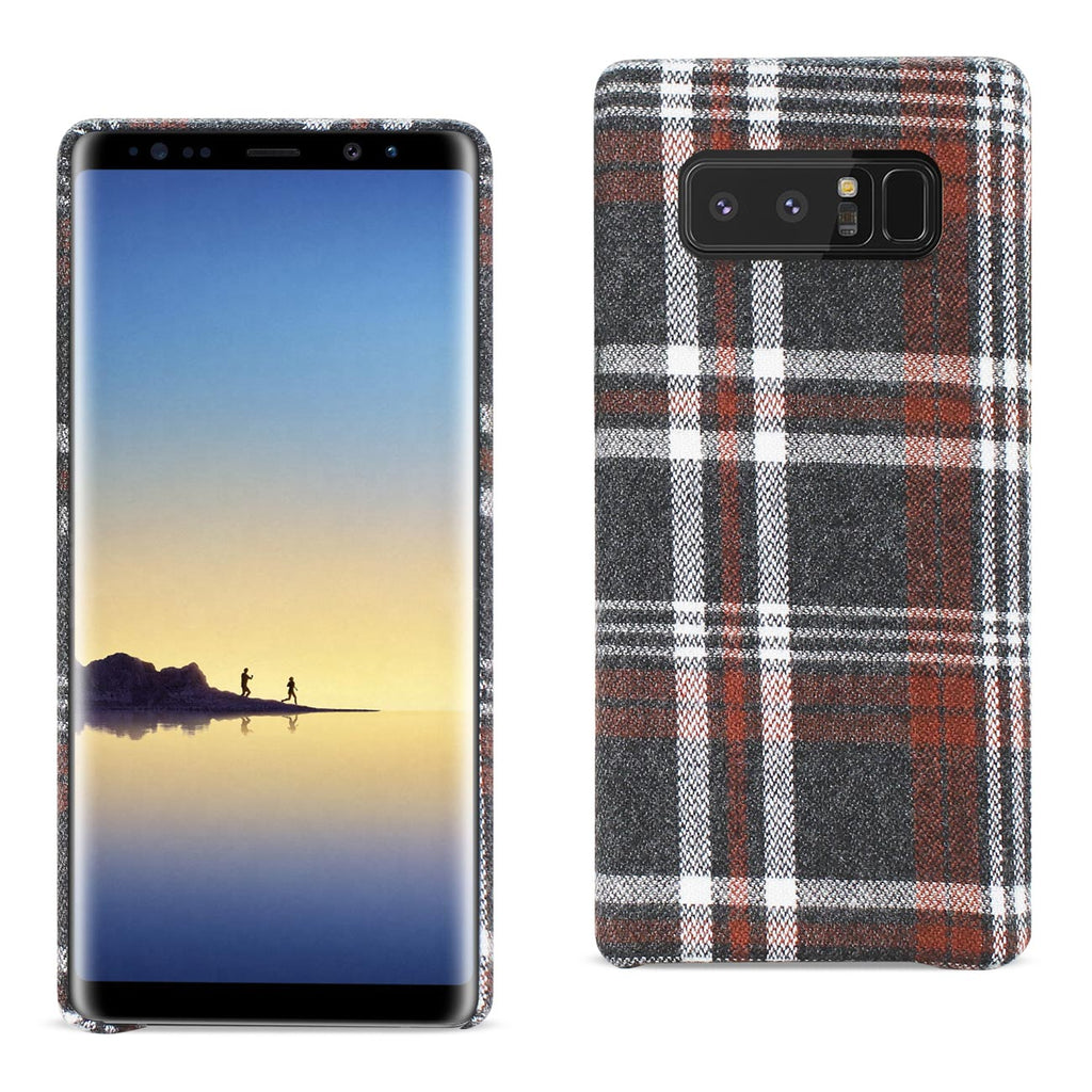 Reiko Samsung Galaxy Note 8 Checked Fabric Case In Brown | MaxStrata