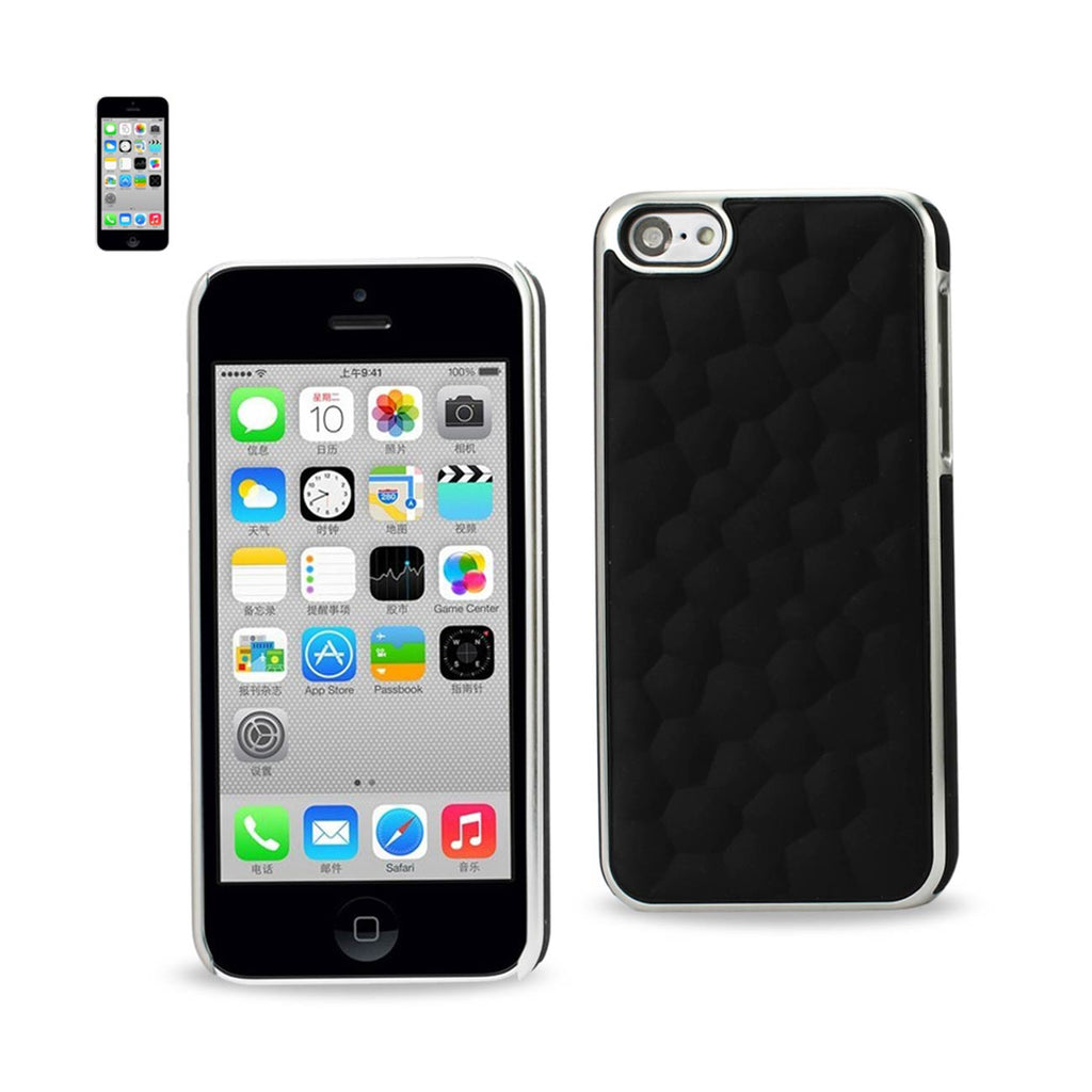 Reiko iPhone SE/ 5S/ 5 Bubble Metal Plated Case In Black | MaxStrata