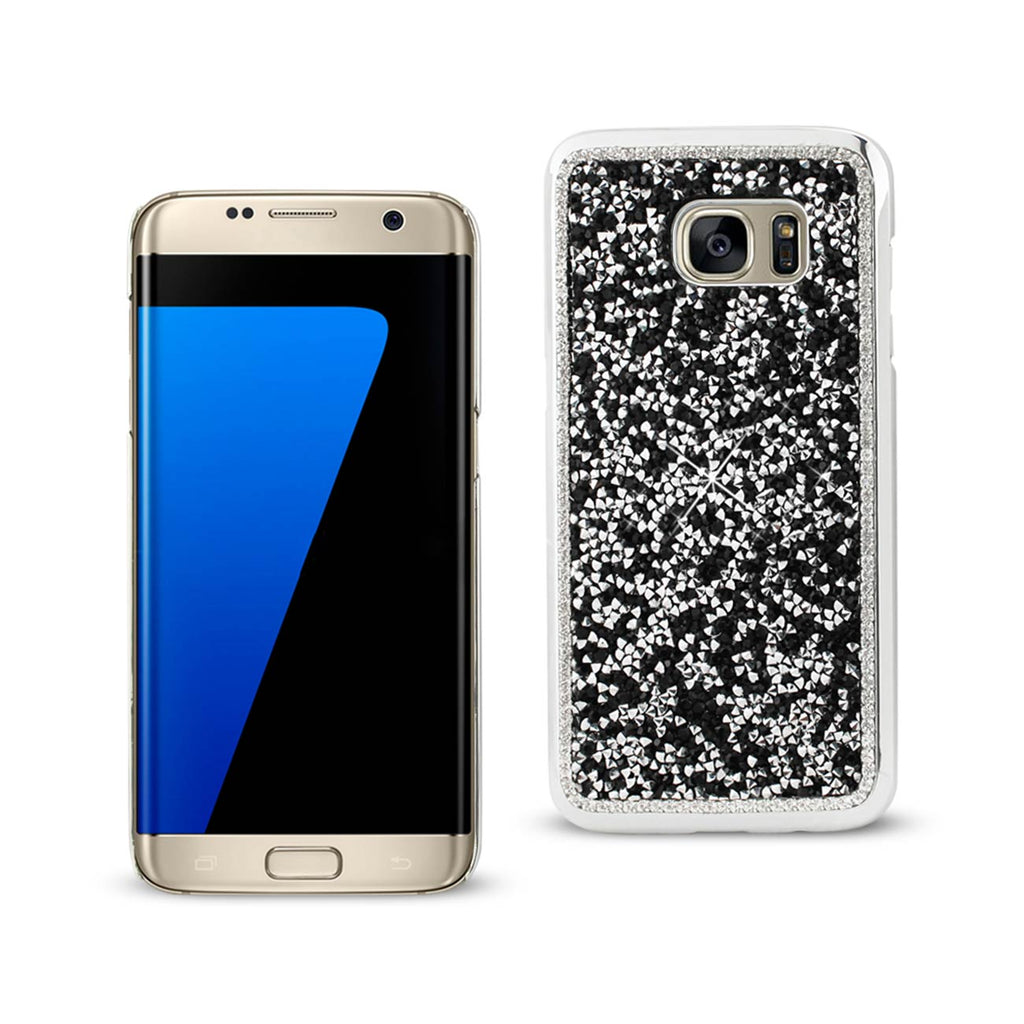 Reiko Samsung Galaxy S7 Edge Jewelry Bling Rhinestone Case In Black | MaxStrata