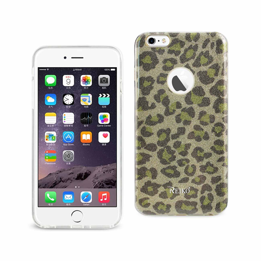Reiko iPhone 6 Plus/ 6S Plus Shine Glitter Shimmer Hybrid Case In Leopard Gold | MaxStrata