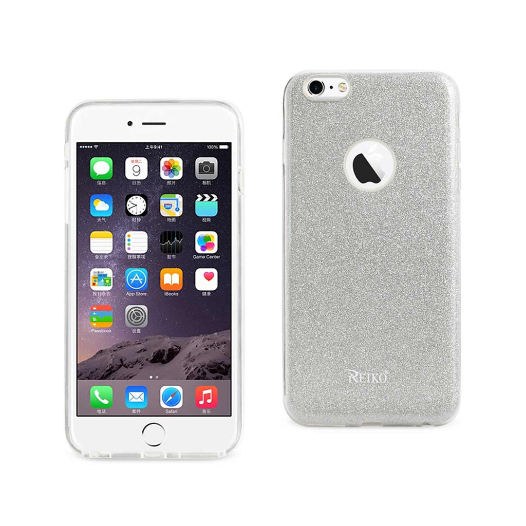 Reiko iPhone 6 Plus/ 6S Plus Shine Glitter Shimmer Hybrid Case In Silver | MaxStrata