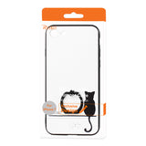 Reiko iPhone 7/8/Se2 Cat Shadow Design Case With Rotating Ring Stand Holder In White | MaxStrata