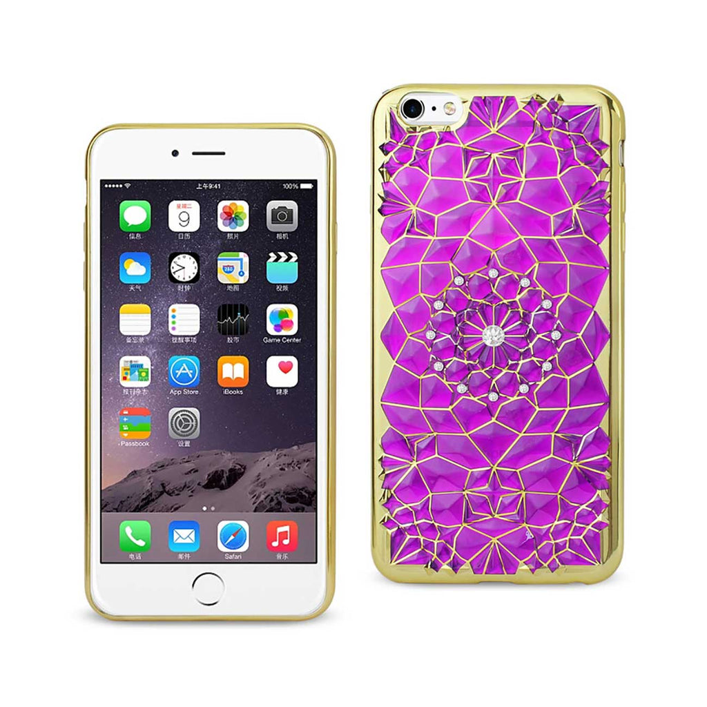 Reiko iPhone 6 Plus/ 6S Plus Soft TPU Case With Sparkling Diamond Sunflower Design In Purple | MaxStrata