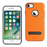 Reiko iPhone 7/8/Se2 Denim Texture TPU Protector Cover In Orange | MaxStrata