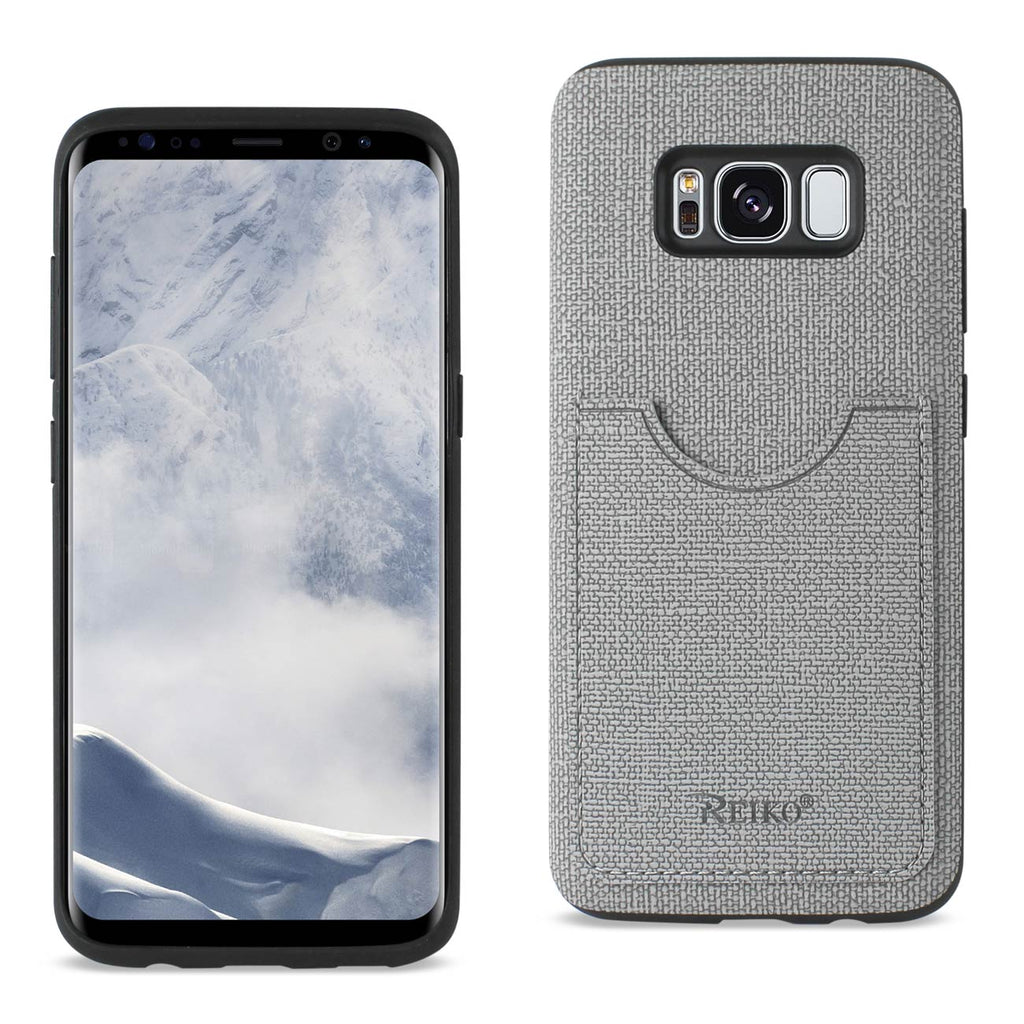 Reiko Samsung Galaxy S8/ Sm Anti-Slip Texture Protective Cover With Card Slot In Gray | MaxStrata