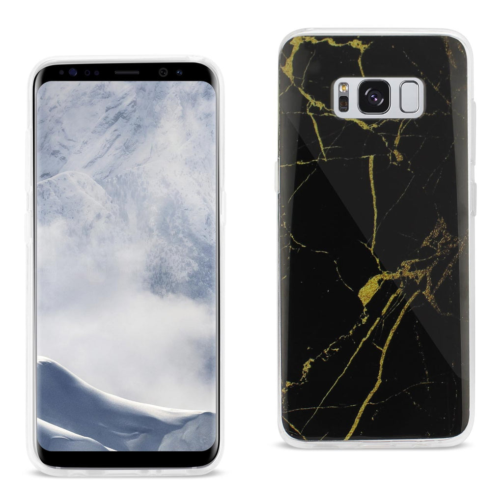 Reiko Samsung Galaxy S8 Edge/ S8 Plus Streak Marble iPhone Cover In Black | MaxStrata