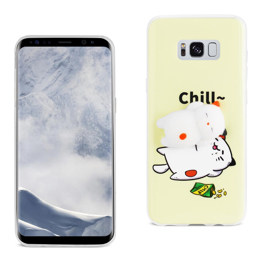 Reiko Samsung Galaxy S8 Edge TPU Design Case With  3D Soft Silicone Poke Squishy Sleeping Cat | MaxStrata