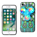 Reiko iPhone 7/8/Se2 Case Design The Inspiration Of Peacock With LED Fidget Spinner Clip On In Turquoise | MaxStrata