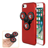 Reiko iPhone 7/8/Se2 Case With LED Fidget Spinner Clip On In Red | MaxStrata