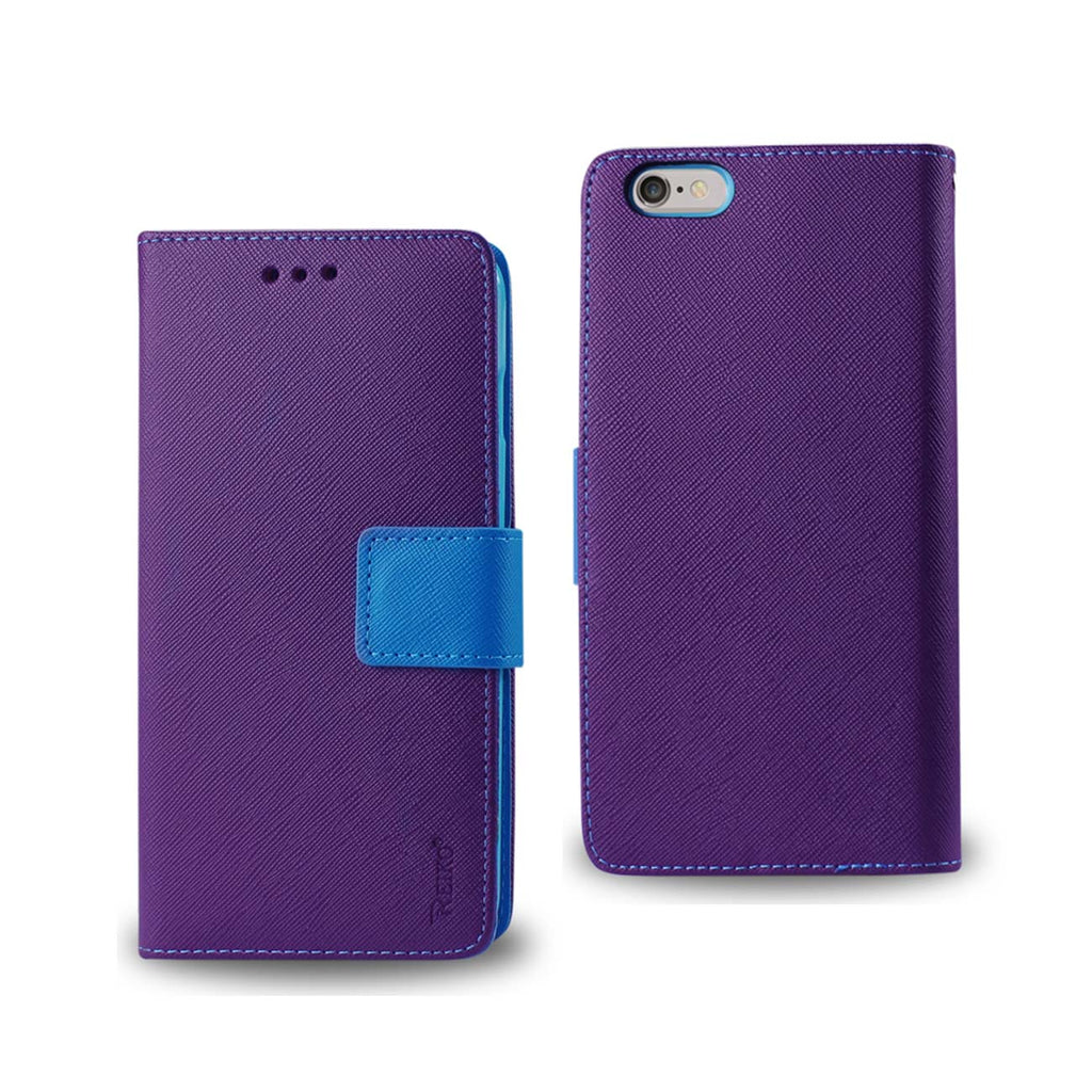 Reiko iPhone 6 Plus 3-In-1 Wallet Case In Purple | MaxStrata