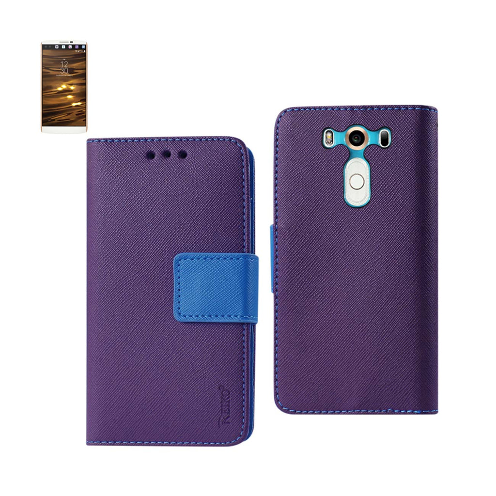 Reiko LG V10 3-In-1 Wallet Case In Purple | MaxStrata