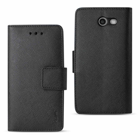Reiko 2017 Samsung Galaxy J3 Emerge 3-In-1 Wallet Case In Black | MaxStrata