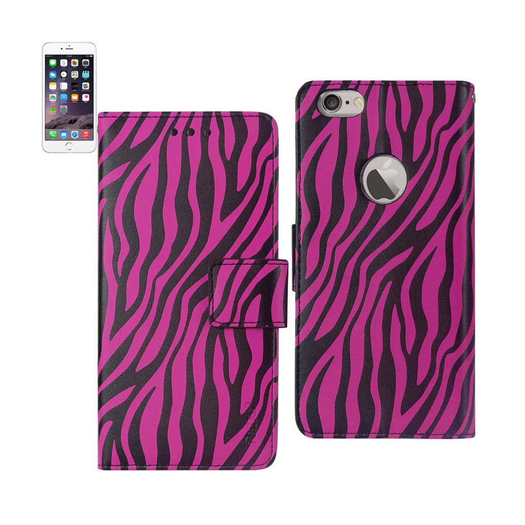 Reiko iPhone 6 Plus 3-In-1 Animal Zebra Print Wallet Case In Hot Pink | MaxStrata