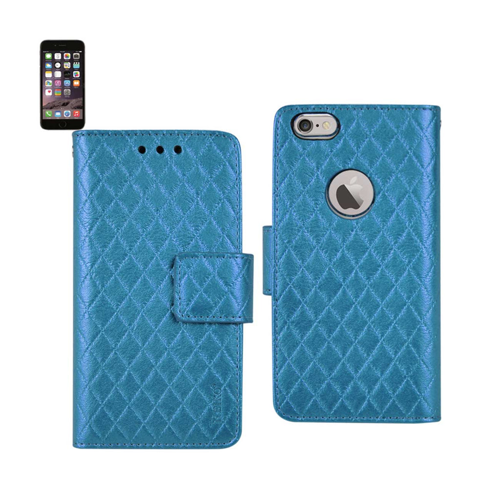 Reiko iPhone 6 Plus Rhombus Wallet Case In Blue | MaxStrata