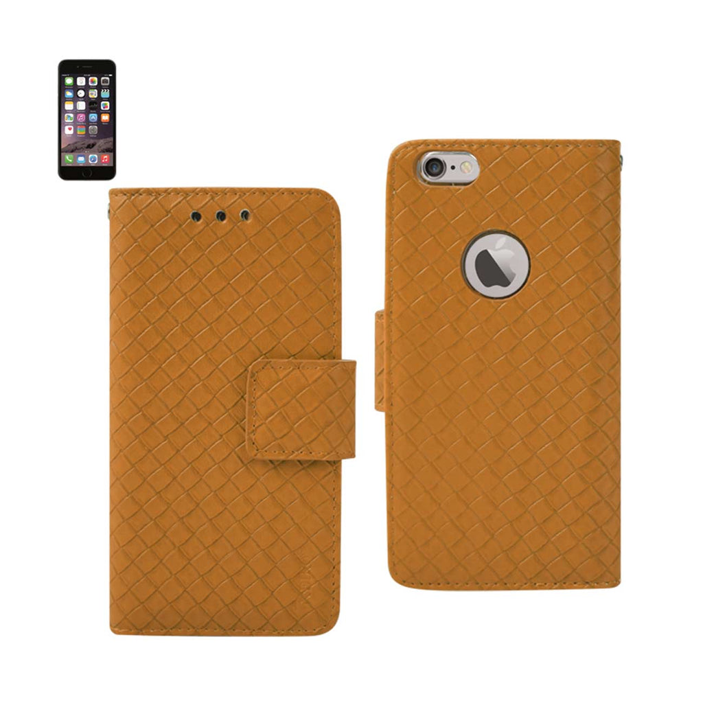 Reiko iPhone 6 Braided Wallet Case In Yellow | MaxStrata