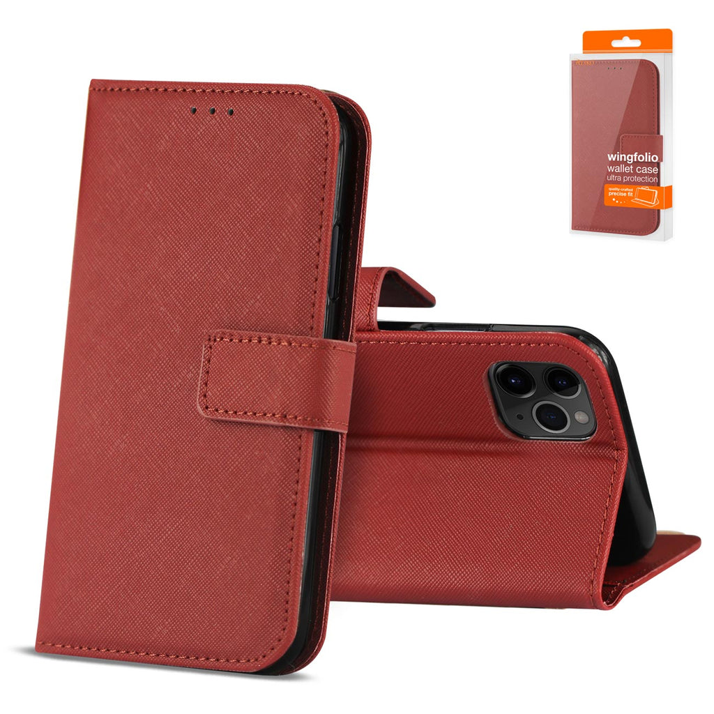 Reiko Apple iPhone 11 Pro Max 3-In-1 Wallet Case In Red | MaxStrata