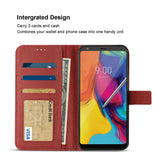 Reiko LG Stylo 5 3-In-1 Wallet Case In Red | MaxStrata