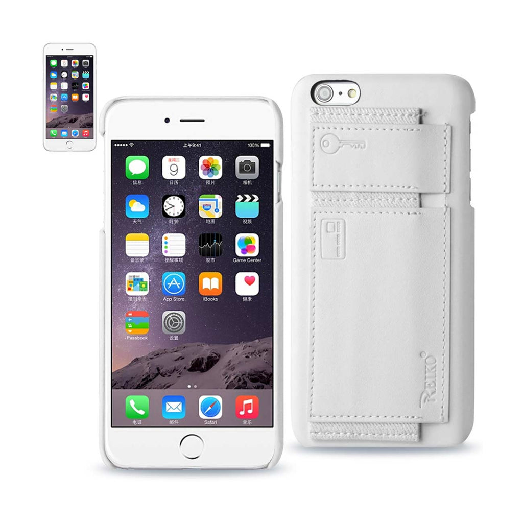Reiko iPhone 6 RFID Genuine Leather Case Protection And Key Holder In Ivory | MaxStrata
