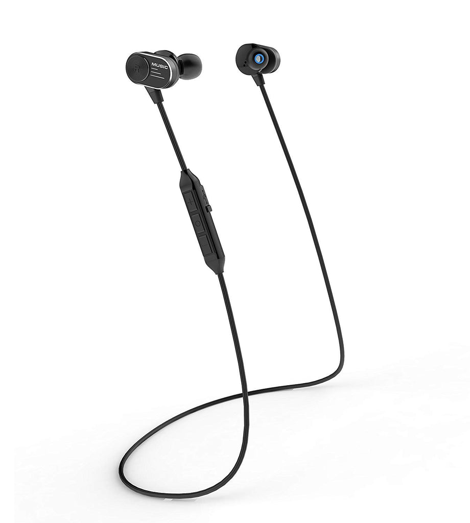 Reiko Wireless Sport Earphones With Magnetic Controlled Switch In Black | MaxStrata