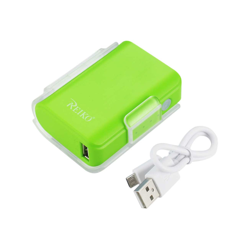 Reiko 4000Mah Universal Power Bank With Cable In Green | MaxStrata
