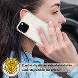 Reiko Apple iPhone 11 Pro Max Wheat Bran Material Silicone Phone Case In White | MaxStrata