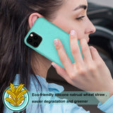 Reiko Apple iPhone 11 Pro Wheat Bran Material Silicone Phone Case In Blue | MaxStrata