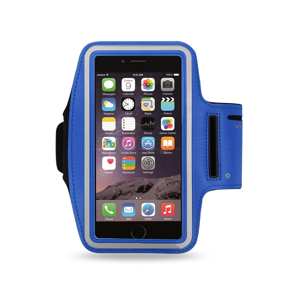 Reiko Running Armband With Touch Screen Case 6X3x0.75 Inches In Navy | MaxStrata