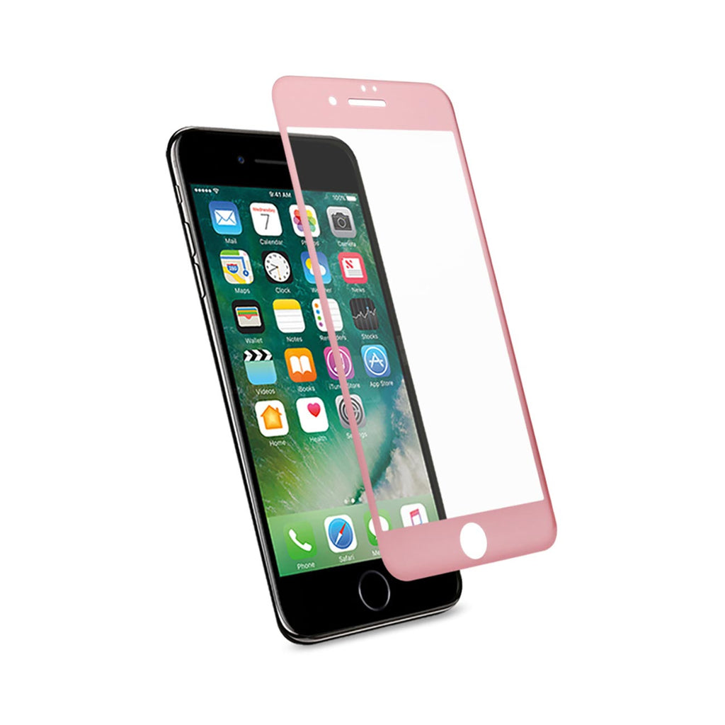 Reiko iPhone 7 3D Curved Full Coverage Tempered Glass Screen Protector In Rose Gold | MaxStrata