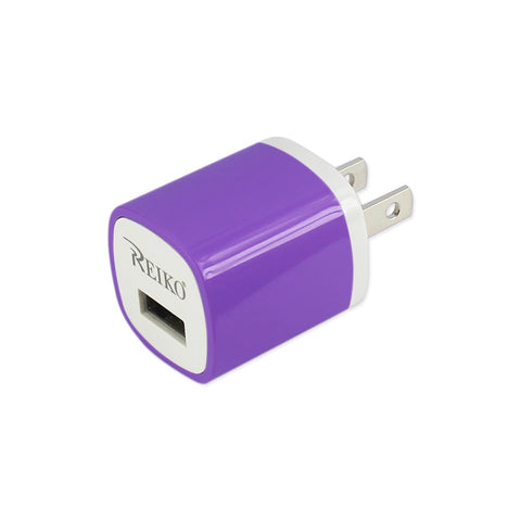 Reiko 1 Amp Wall Usb Travel Adapter Charger In Purple | MaxStrata