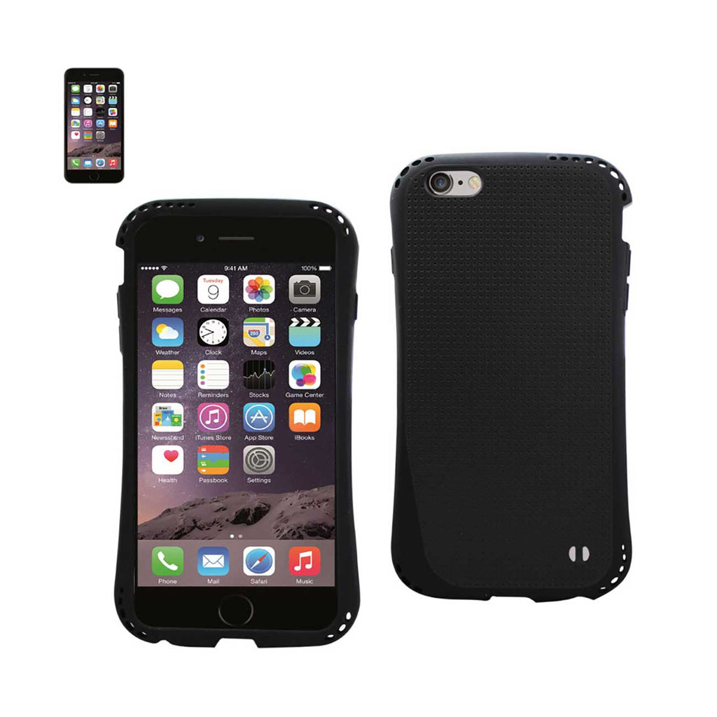 Reiko iPhone 6S Plus/ 6 Plus Dropproof Air Cushion Case With Chain Hole In Black | MaxStrata