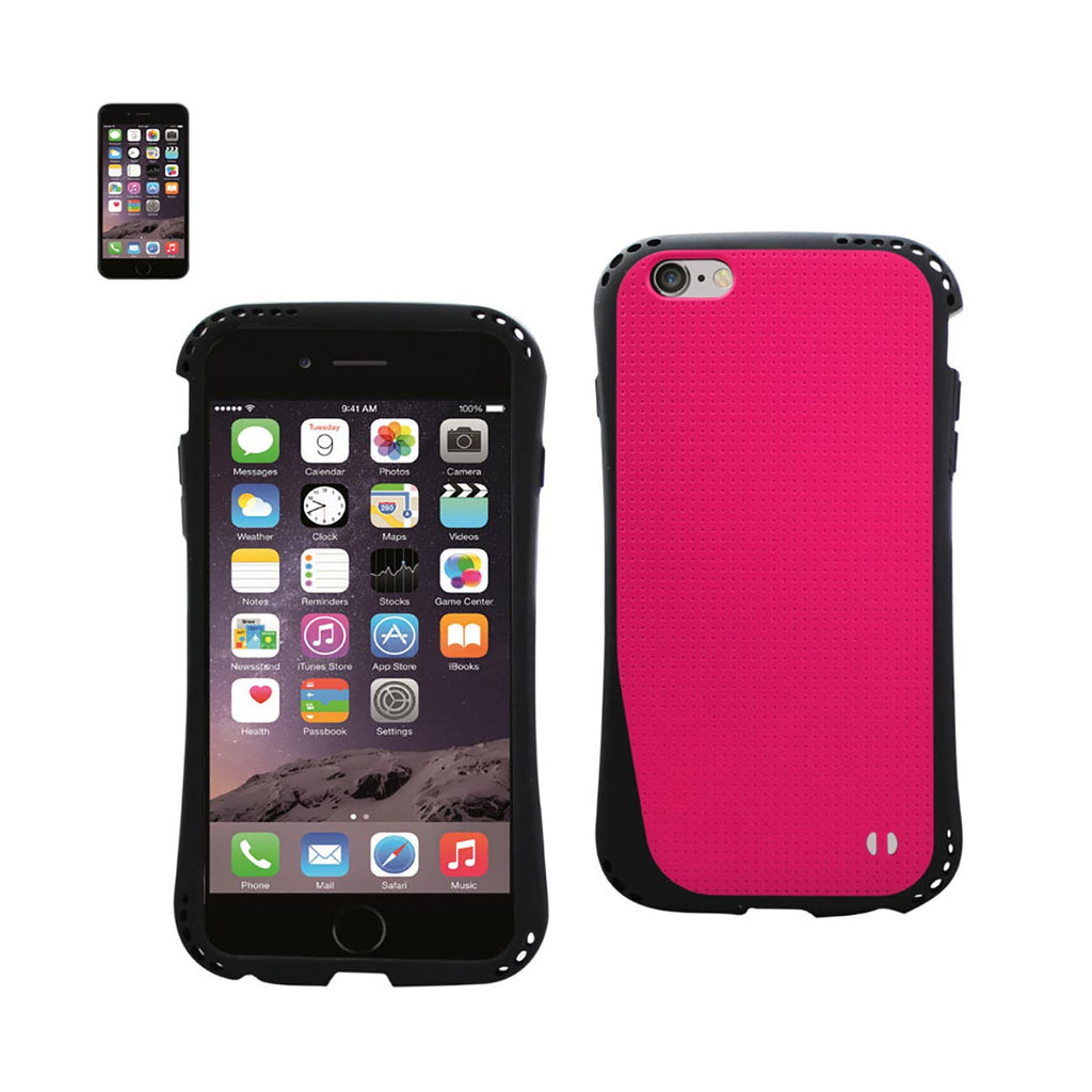 Reiko iPhone 6S Plus/ 6 Plus Dropproof Air Cushion Case With Chain Hole In Hot Pink | MaxStrata