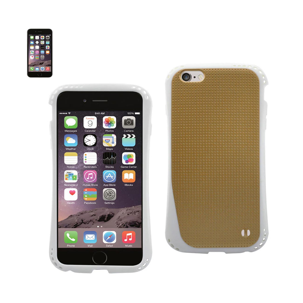 Reiko iPhone  6S/ 6 Dropproof Air Cushion Case With Chain Hole In Gold | MaxStrata