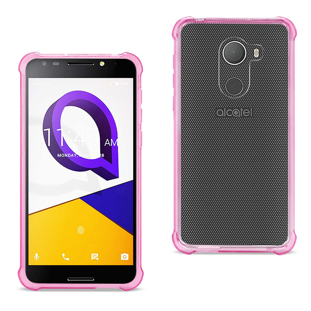 Reiko Alcatel Walters Clear Bumper Case With Air Cushion Protection In Clear Hot Pink | MaxStrata