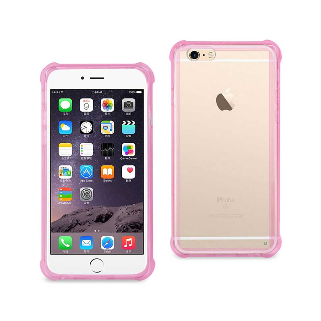 Reiko iPhone 6S Plus/ 6 Plus Clear Bumper Case With Air Cushion Protection In Clear Hot Pink | MaxStrata