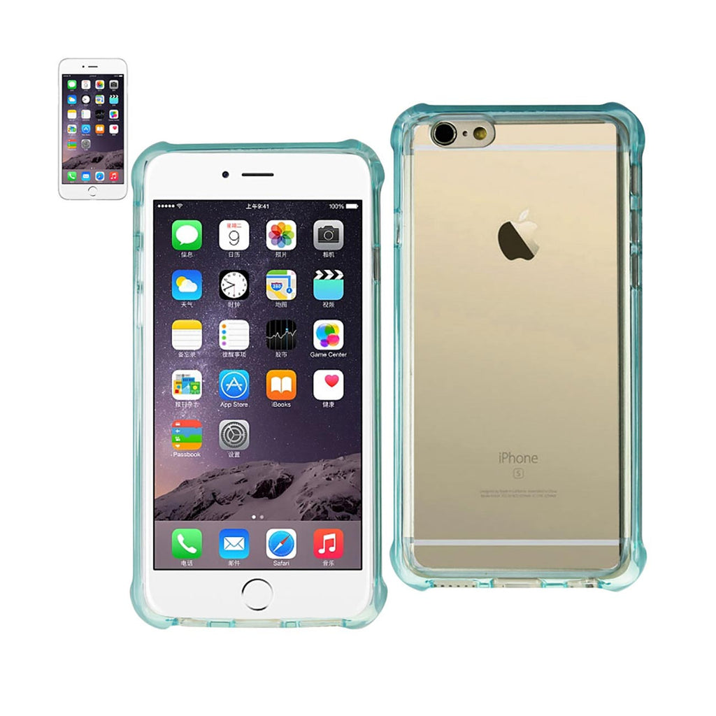 Reiko iPhone 6S Plus/ 6 Plus Clear Bumper Case With Air Cushion Protection In Clear Navy | MaxStrata
