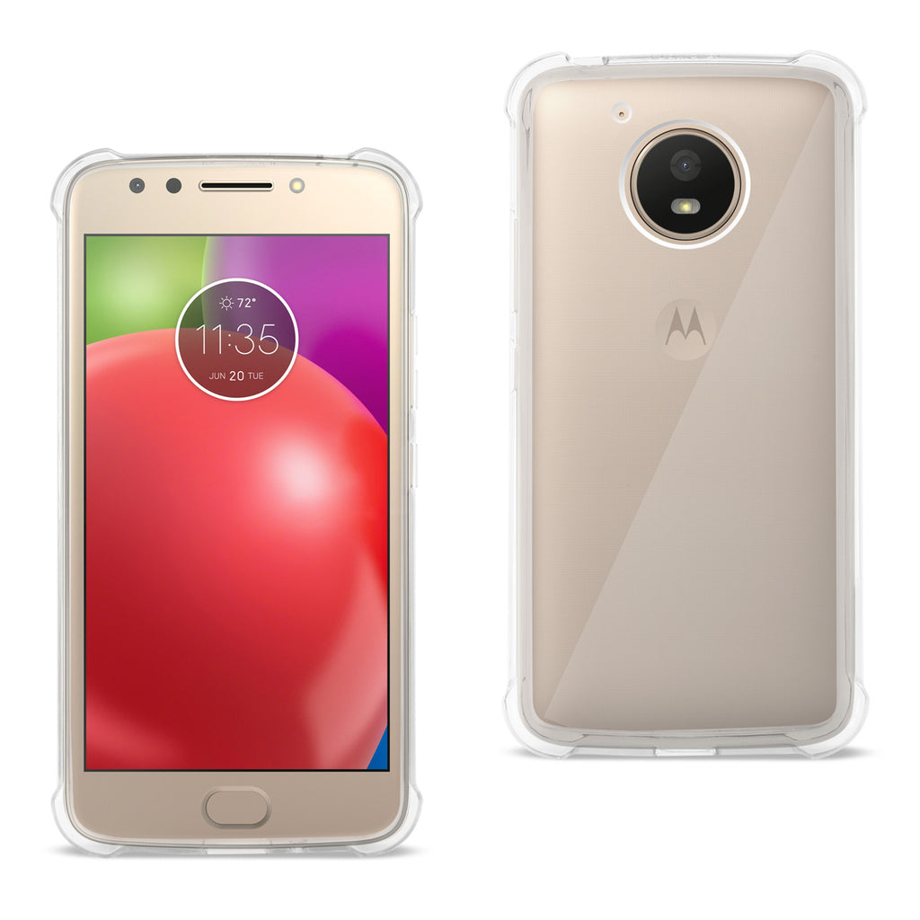 Reiko Motorola Moto E4 Active Clear Bumper Case With Air Cushion Protection In Clear | MaxStrata