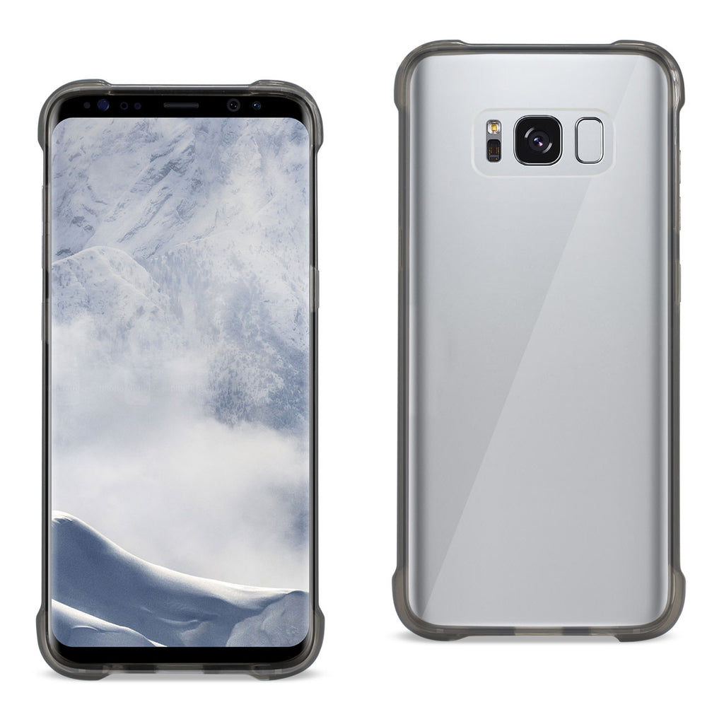 Reiko Samsung Galaxy S8 Edge/ S8 Plus Clear Bumper Case With Air Cushion Protection In Clear Black | MaxStrata